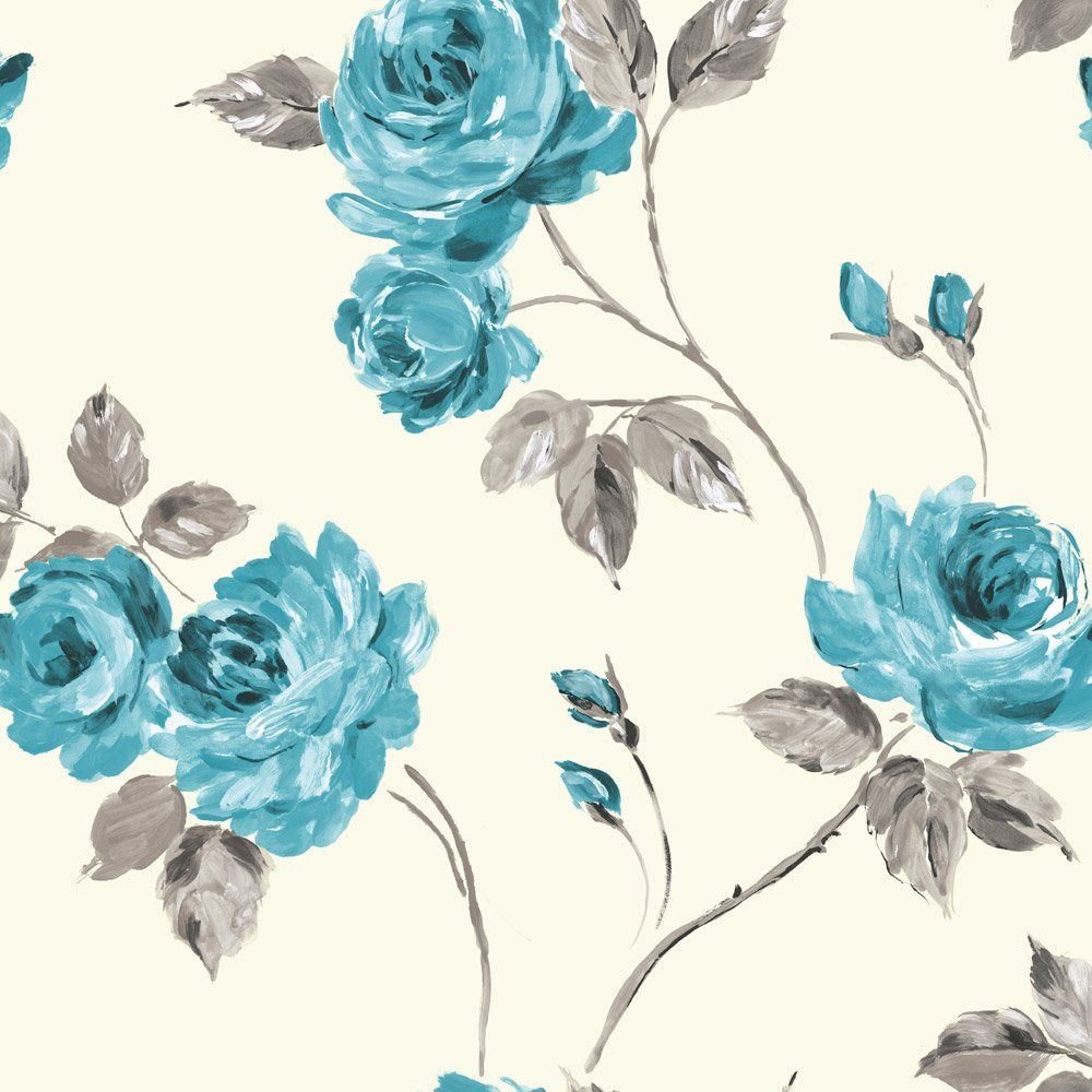 Teal and Pink Flower Backgrounds floral teal ewp04018