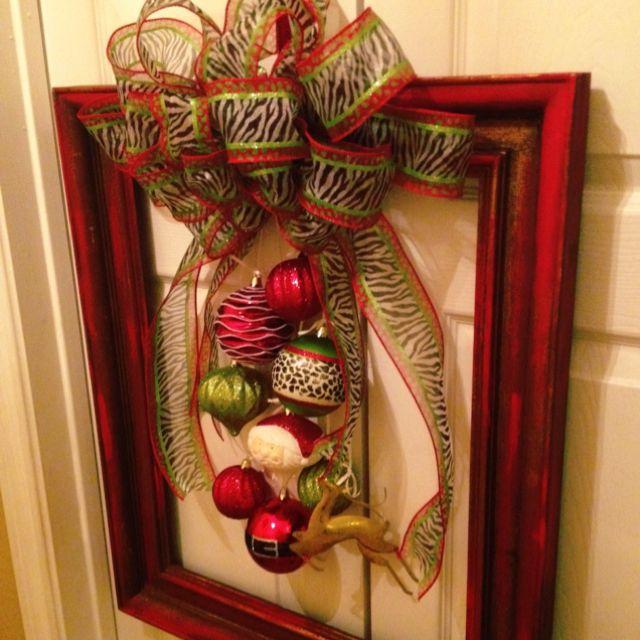 Christmas frame wreath   DIY Crafts   Pinterest   Frame wreath ...