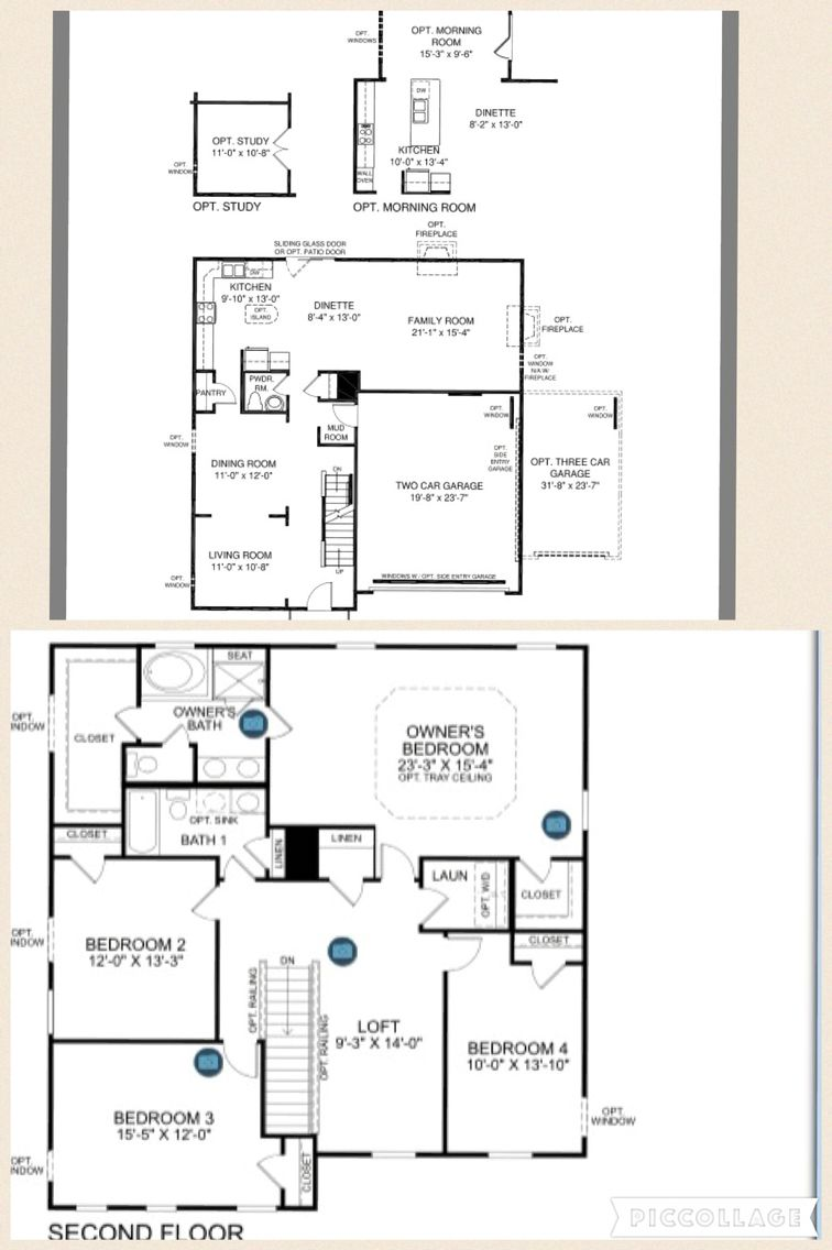 Naples Ryan Homes With Optional Morning Room Study And Extra Large Loft Instead Of 4th Bedroom Morning Room Family Dining Rooms Ryan Homes