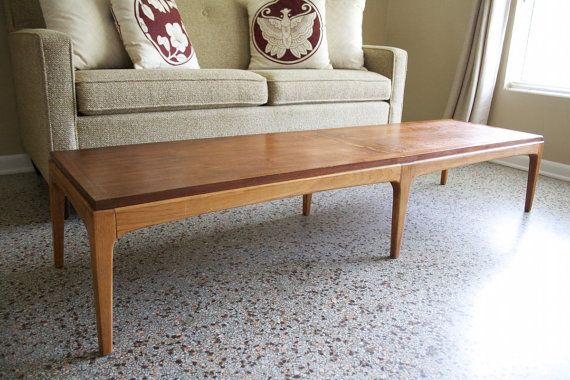 Mid Century Lane Rhythm Coffee Table Bench Vintage Wanut Etsy Coffee Table Surfboard Coffee Table Coffee Table Bench
