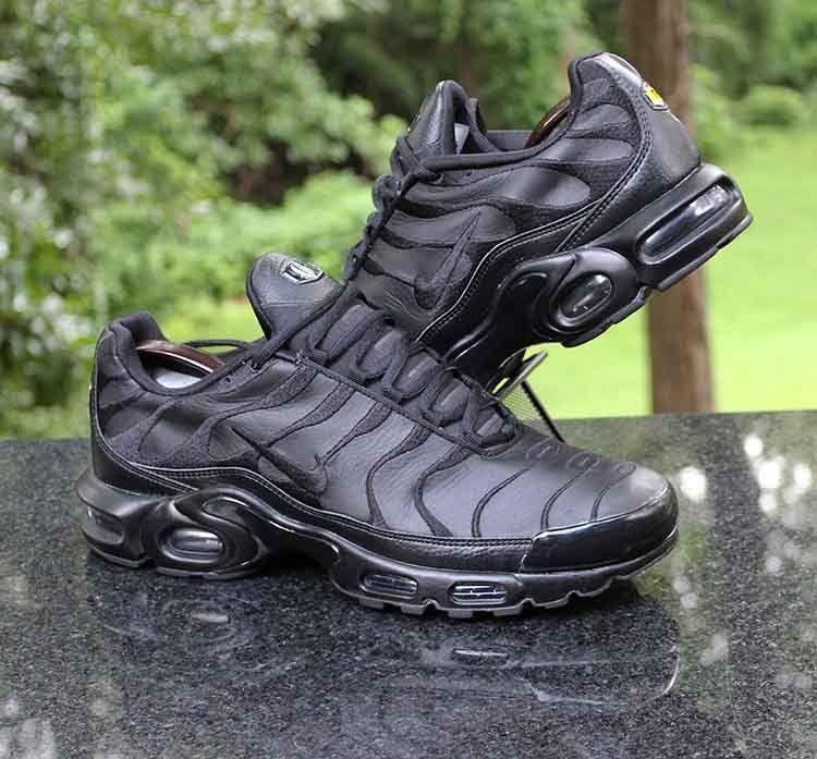 3c062b3a8 Nike TN Air Max Plus Triple Black AJ2029-001 Men's Running Shoe Size 12 # Nike #RunningShoes