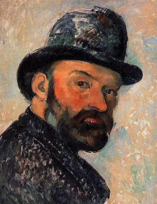 Paul Cézanne au chapeau melon (esquisse) - 1886