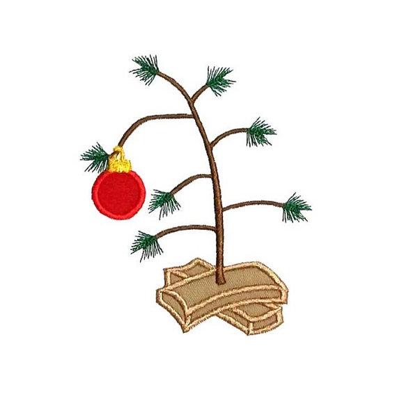 Sparse Christmas Tree Applique Machine Embroidery Design Machine Embroidery Designs Machine Embroidery Christmas Embroidery