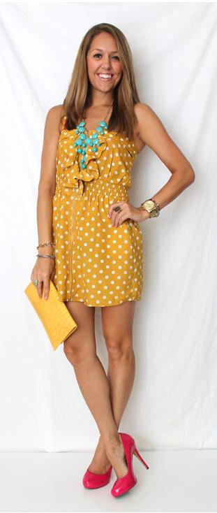 Blazer: Victoria's Secret Dress: c/o LoveMode Necklace: H Shoes: Michael Antonio/Zappos Purse: c/o LOFT