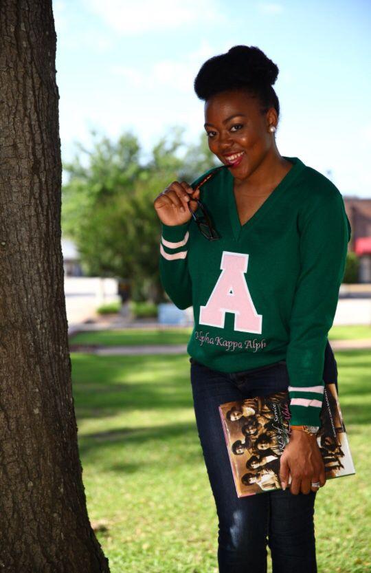Vintage Alpha Kappa Alpha Sweater! Yasssss  227e0b2d3