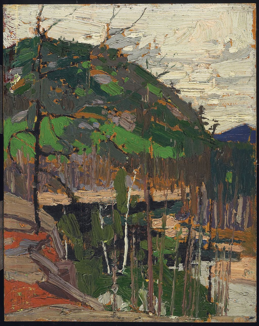 Thomson, Tom, Canadian, (1877 - 1917), Rounded Hill and River, 1916