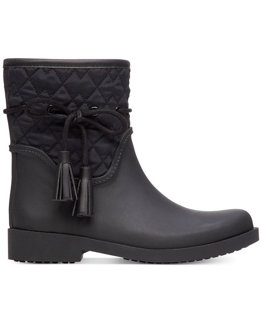 Jessica Simpson Racyn Quilted Rain Boots - Winter & Rain Boots ... : quilted rainboots - Adamdwight.com