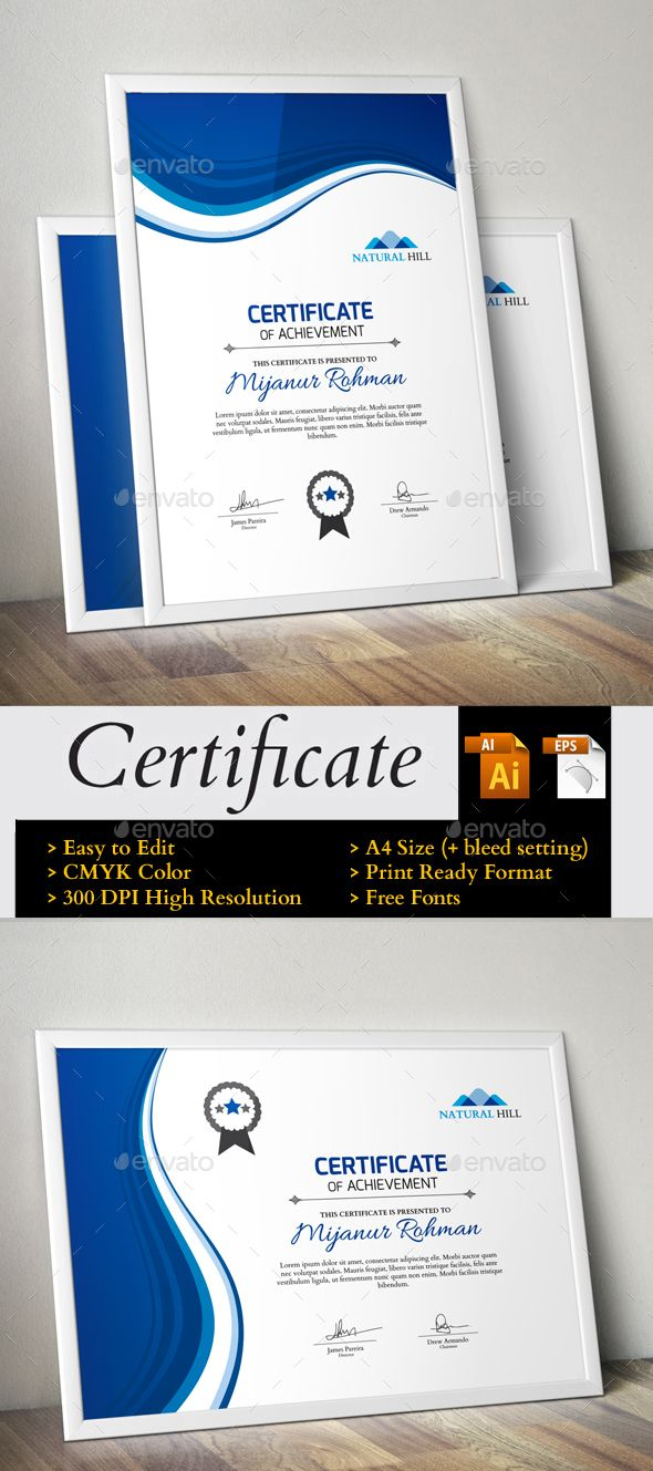 Certificate certificate template and ai illustrator certificate yadclub Images