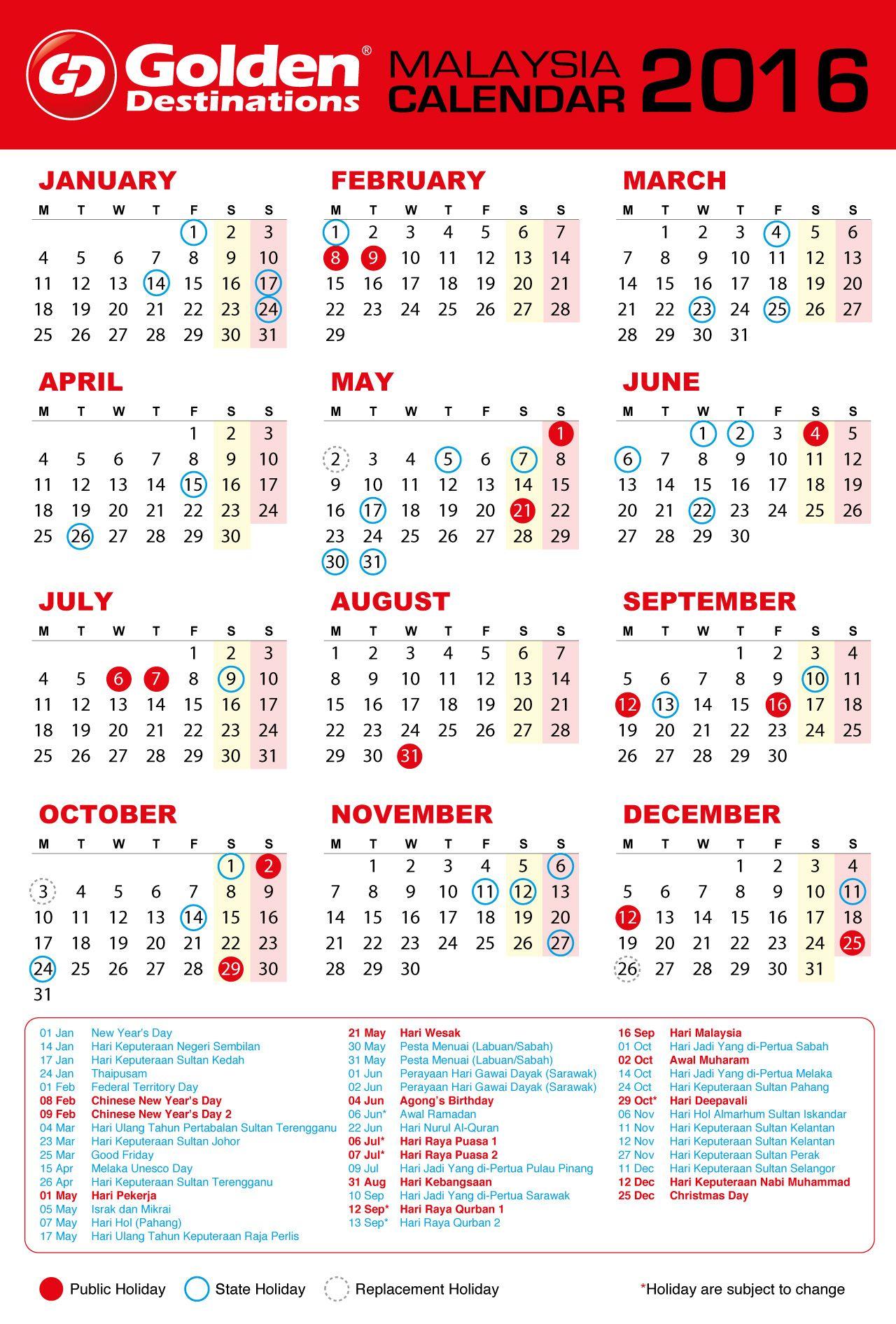 September 2016 Calendar Malaysia Calendar Calendar Template September Calendar