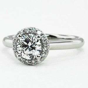 Platinum Halo Diamond Ring Brilliant Earth Feb 21