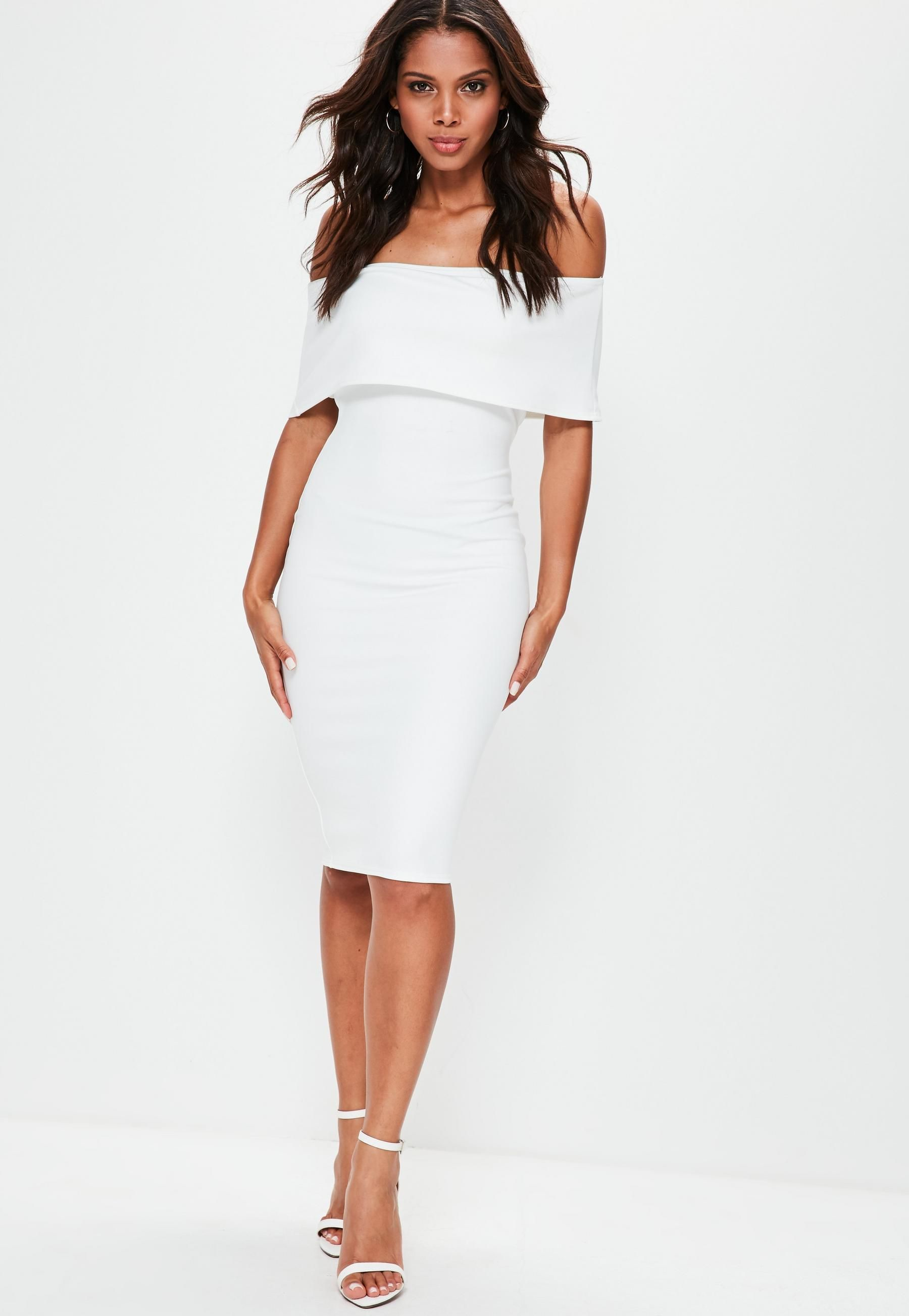 White cut out back longline overlay midi dress grad dresses