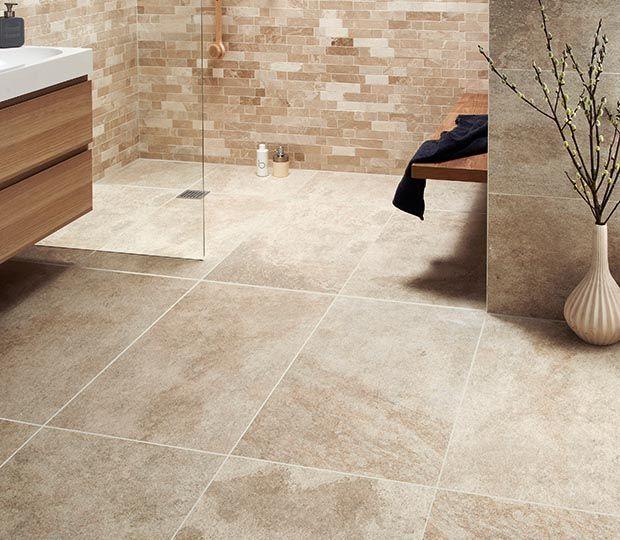 Large format beige tiles from Topps Tiles | Design | Pinterest ...