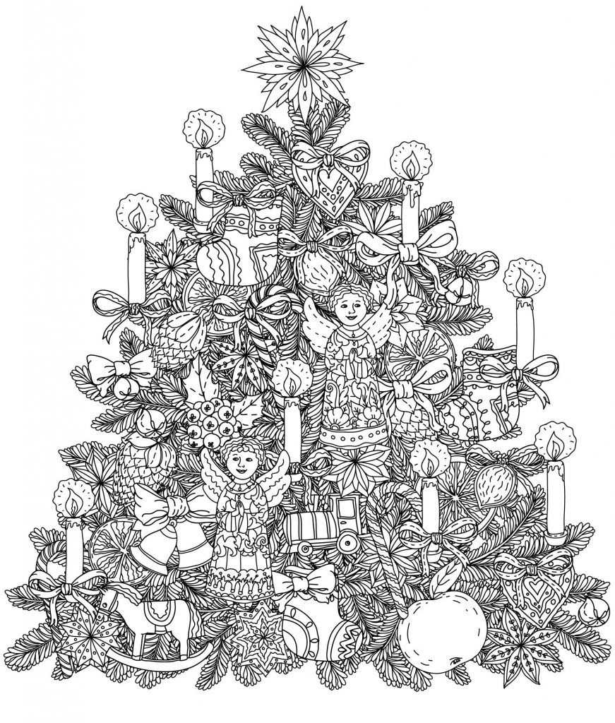 christmas coloring pages | home - look who's coloring