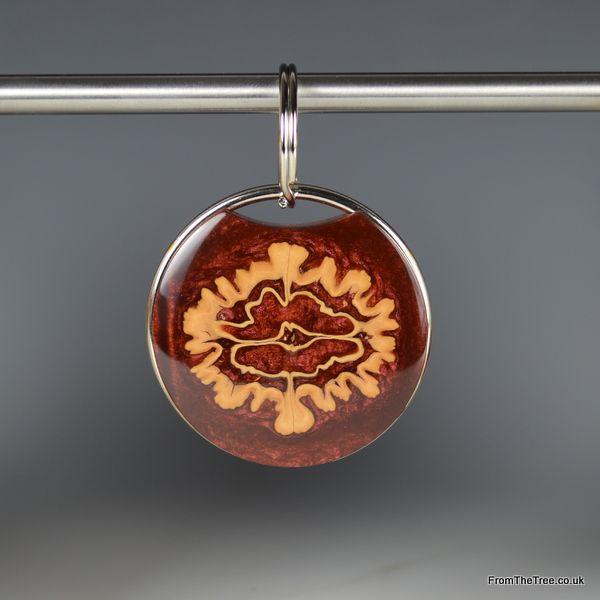 Walnut /& Resin Pendant Necklace