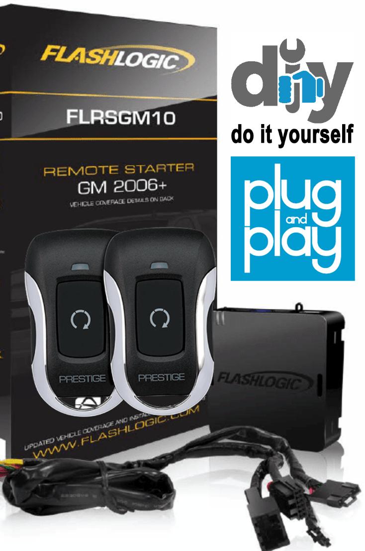 Flashlogic Gm10 1bz Plug Play Remote Starter Kit With 1500 Range