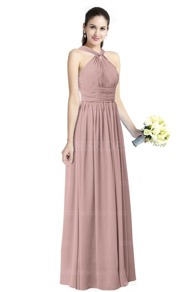 20b2327182e ColsBM Willa Simple Halter Criss-cross Straps Chiffon Floor Length Plus  Size Bridesmaid Dresses  colsbm  bridesmaids  bridesmaiddress  weddings .