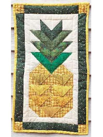 This Pieced Pineapple Wall Quilt Uses 3 D Folding
