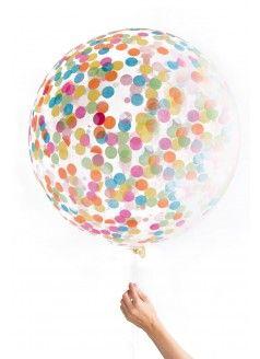 KNOT & BOW Jumbo Confetti Balloon / Multi-Colored