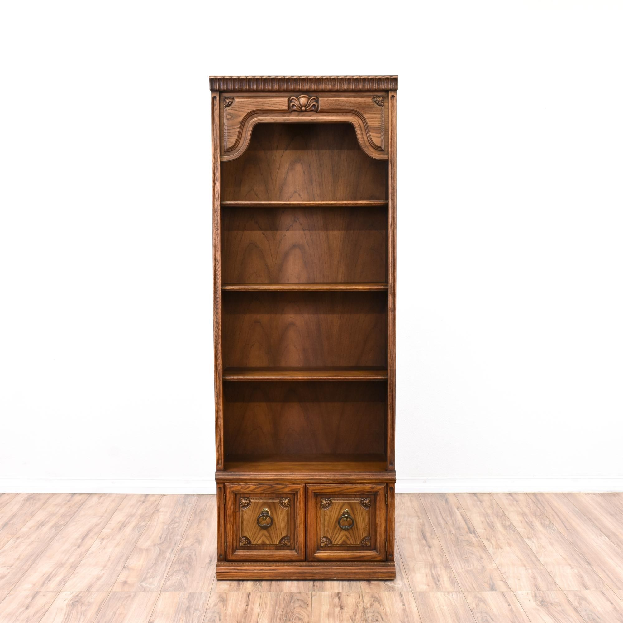 is featured finish glossy a solid bookcases in wood oak bookcase dark pin with this
