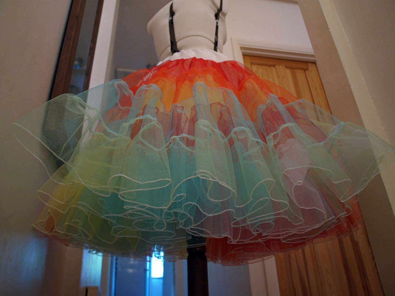Lizzie jayne wedding dresses rainbow petticoat rainbow clothes