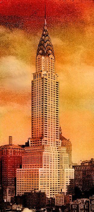 Vintage Chrysler Building Chrysler Building New York Drawing