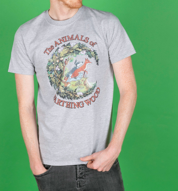 Men's The Animals Of Farthing Wood Sport Grey TShirt
