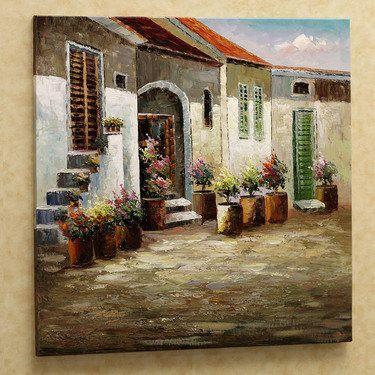 Mediterranean Vistas Canvas Art Wall Canvas Great Paintings Framed Art Prints