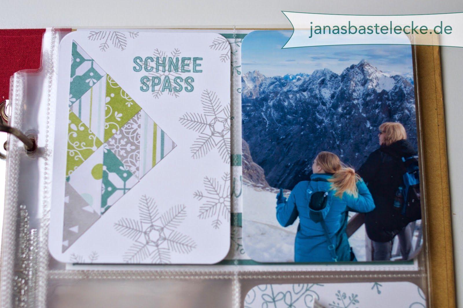 12 Tage Weihnachten 2014 - Project Life Karte - Schnee Spass - mit ...