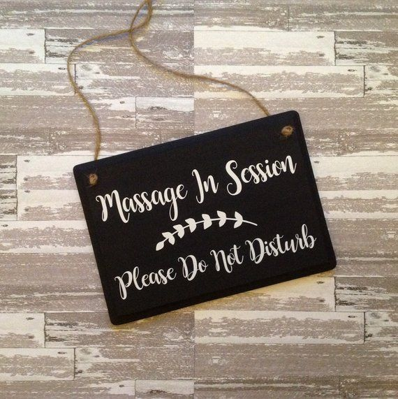 two sided massage in session please do not disturb door hanger