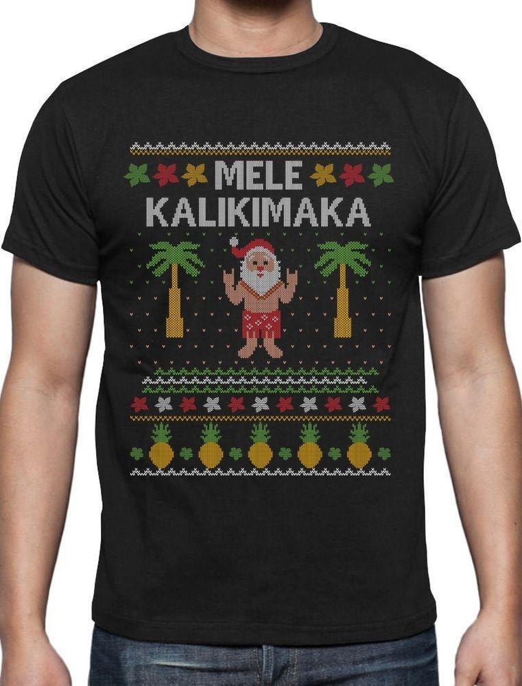 TeeStars Mele Kalikimaka Hawaiian Santa Ugly Christmas Toddler Kids T-Shirt