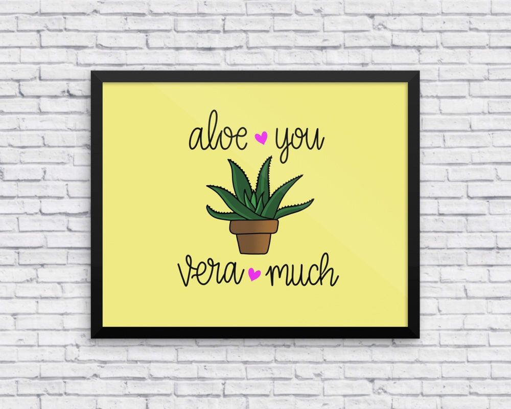 Love Art Print, Love Wall Art, Valentines Art Print, Succulent Art ...