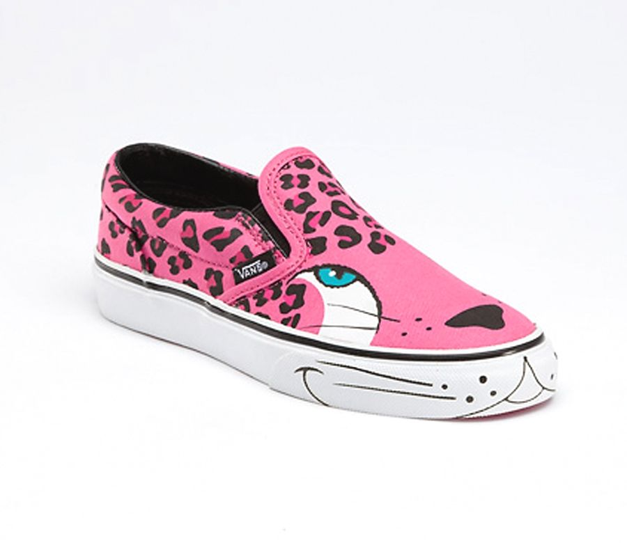 cool vans shoes for girls black and pink | Cheetah shoes ...
