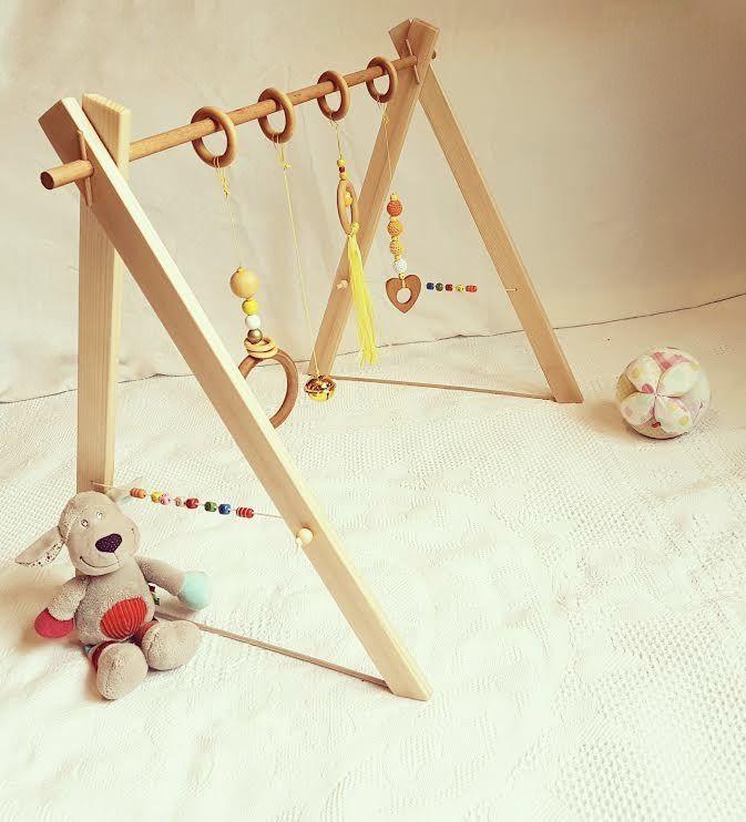 portique d 39 veil en bois personnalisable ou baby gym. Black Bedroom Furniture Sets. Home Design Ideas