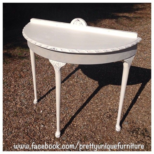 """""""#ascp #anniesloan #chalkpaint #distressed #distressedfurniture #etsy #forsale #handpainted #instahome #countrygrey #loveit #morethanpaint #oldwhite #parisgrey #paintedfurniture #prettyuniquefurniture #refurbished #shabby #shabbychic #table #demilunetable #upcycled #vintage"""" Photo taken by @prettyuniquefurniture on Instagram, pinned via the InstaPin iOS App! http://www.instapinapp.com (03/24/2015)"""