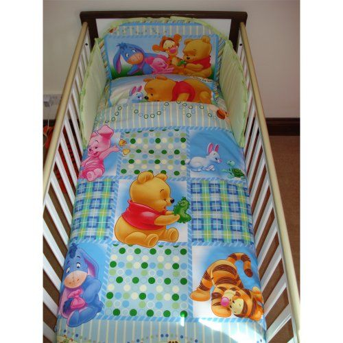 Disney Winnie The Pooh Follow The Leader Bedding Set For Cot Or Cotbed Green Cot 120 X 60cm High Quality Bed Winnie The Pooh Bedding Baby Cot Bedding Sets