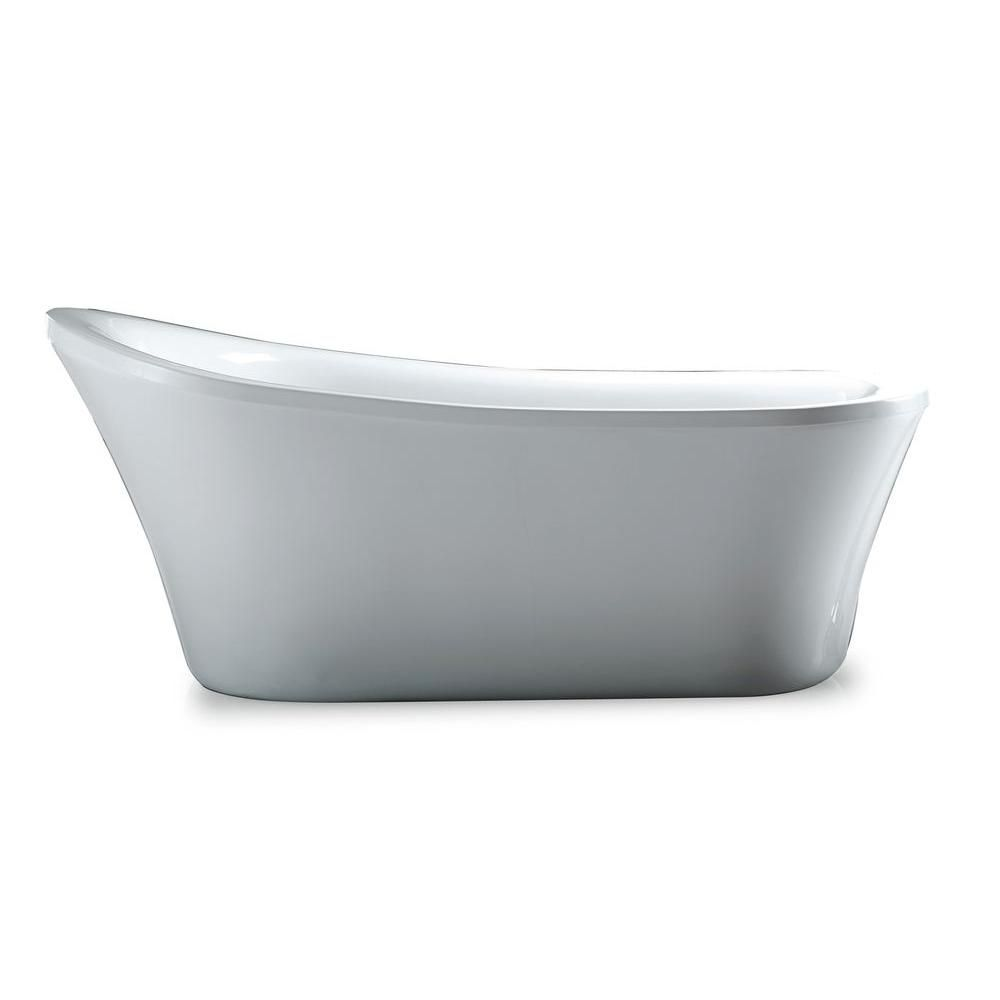 Ove Decors Rachel 70 In Reversible Drain Bathtub In White Rachel
