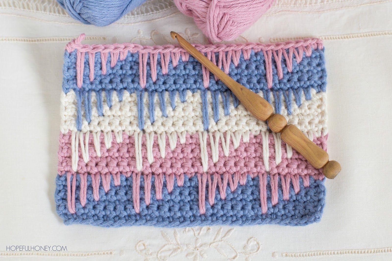 How To: Crochet The Spike Stitch - Easy Tutorial | telar ,croche ...