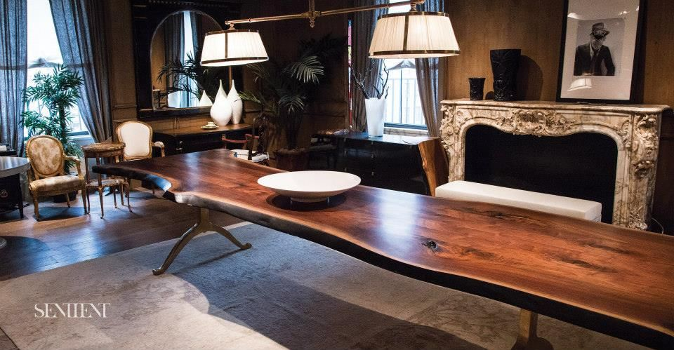 Sentient Photo Shoot Of Our Mb Black Walnut Live Edge Dining Table