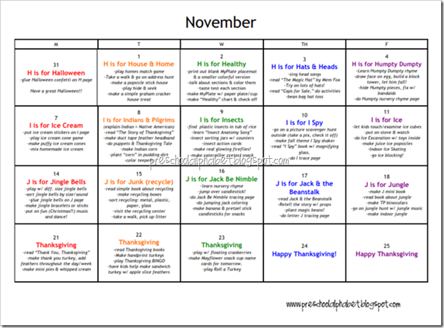 weekly lesson plan for preschool