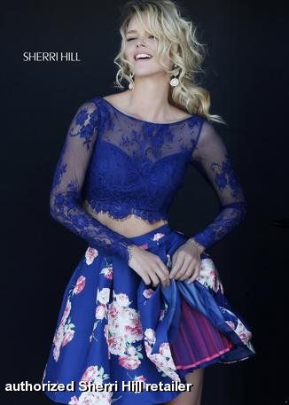Sherri hill fall homecoming prom collection long sleeve piece two crop also miss priss missprissgowns on pinterest rh