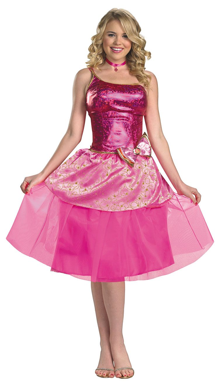 Home ladies costumes rodeo gal costume - Women S Deluxe Barbie S Princess Charm School Costume By Costume Craze