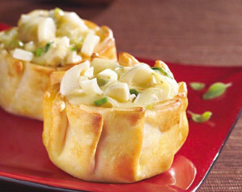 Tarteletas de palmitos aceitunas y queso natural food - Menu de cenas navidenas ...