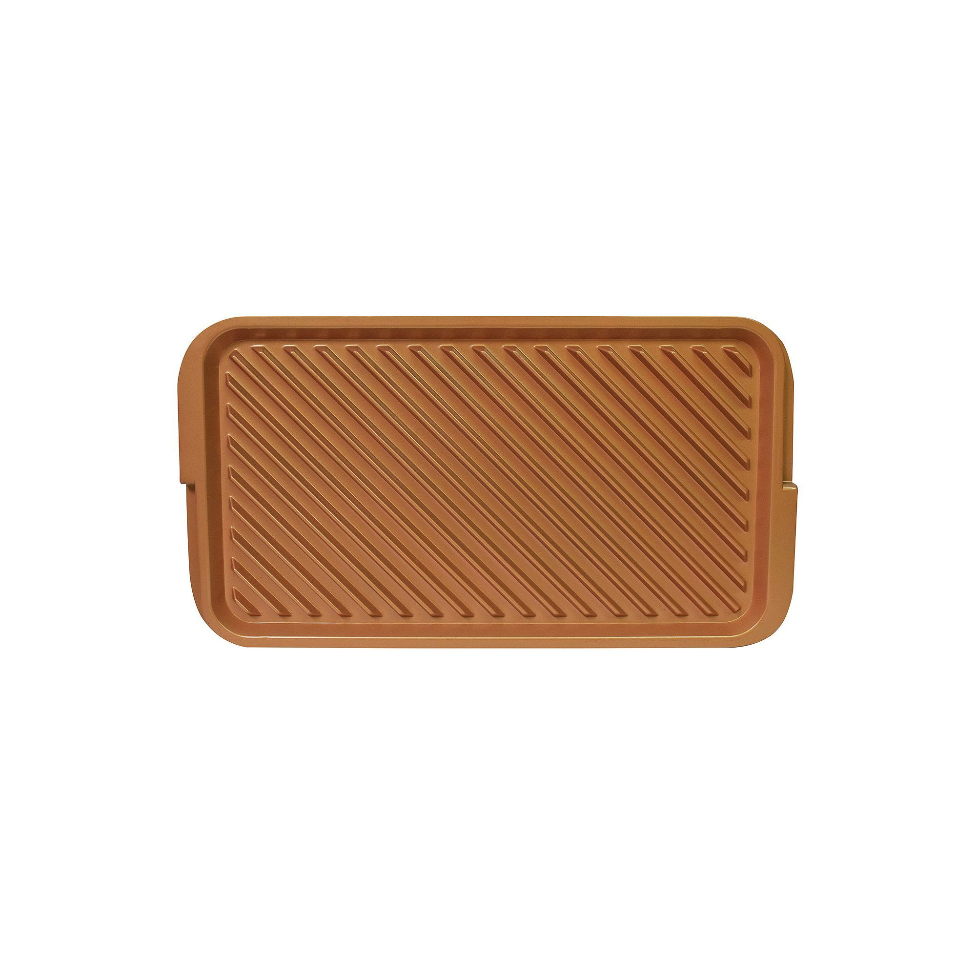 As Seen on TV Red Copper Ceramic Reversible Grill & Griddle, Red/Coppr (Rust/Coppr)