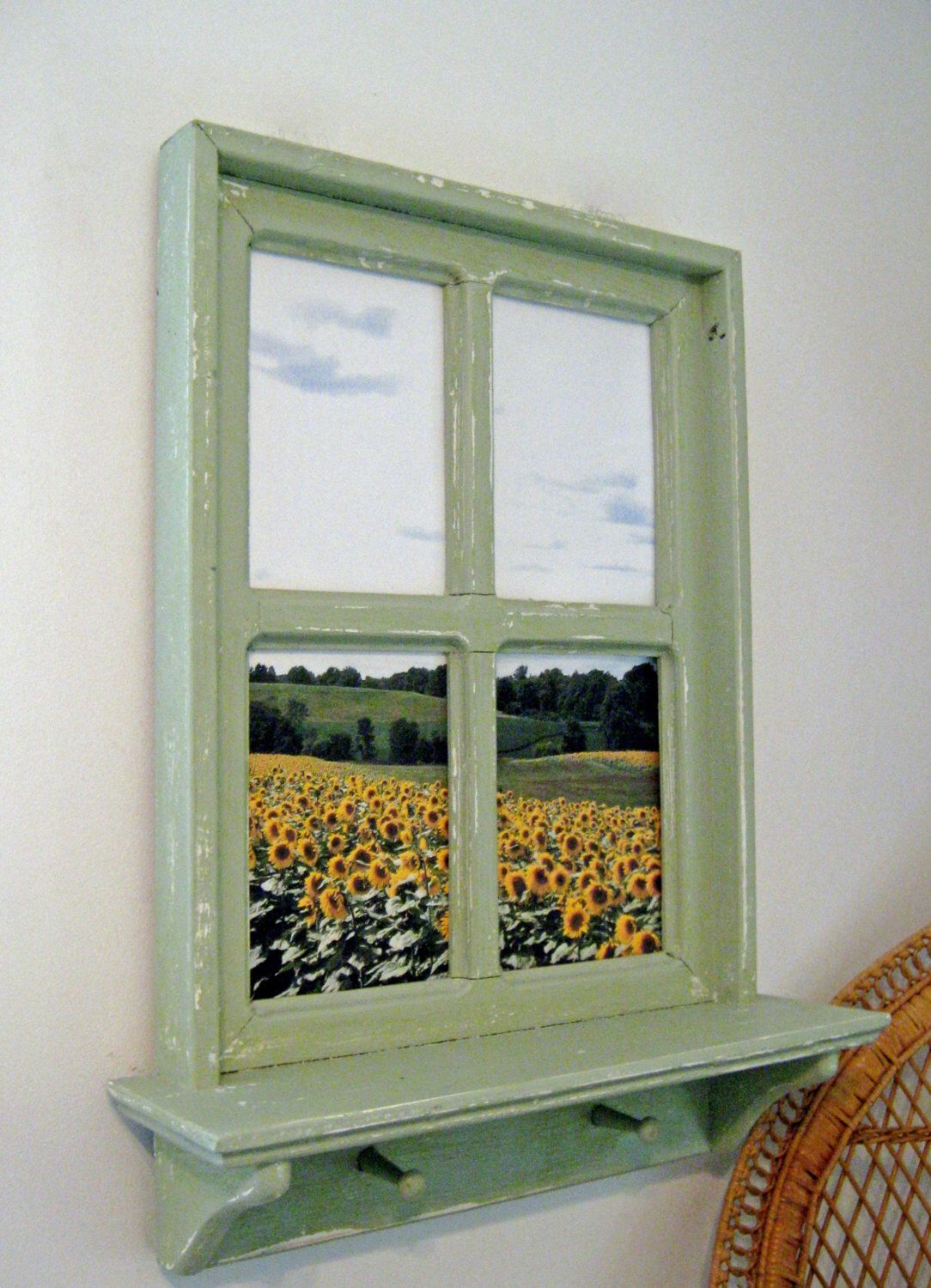 A Personal Favorite From My Etsy Shop Https Www Etsy Com Listing 481496845 Framed Photograpy Sun Flower Photo Faux Window Window Frame Picture Fake Window