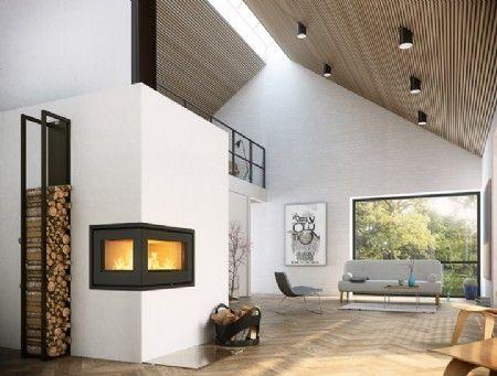 Rais 500² Fireplace insert Steel door / right-facing