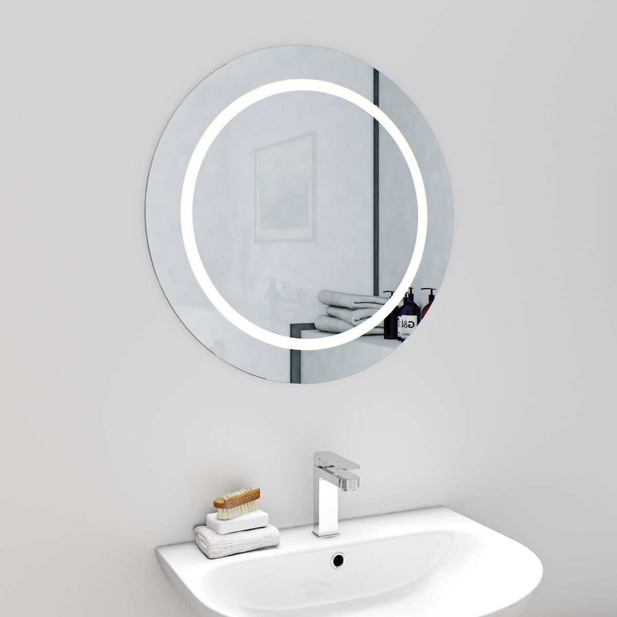 Mode Shine round LED mirror with demister | Led mirror and Rounding