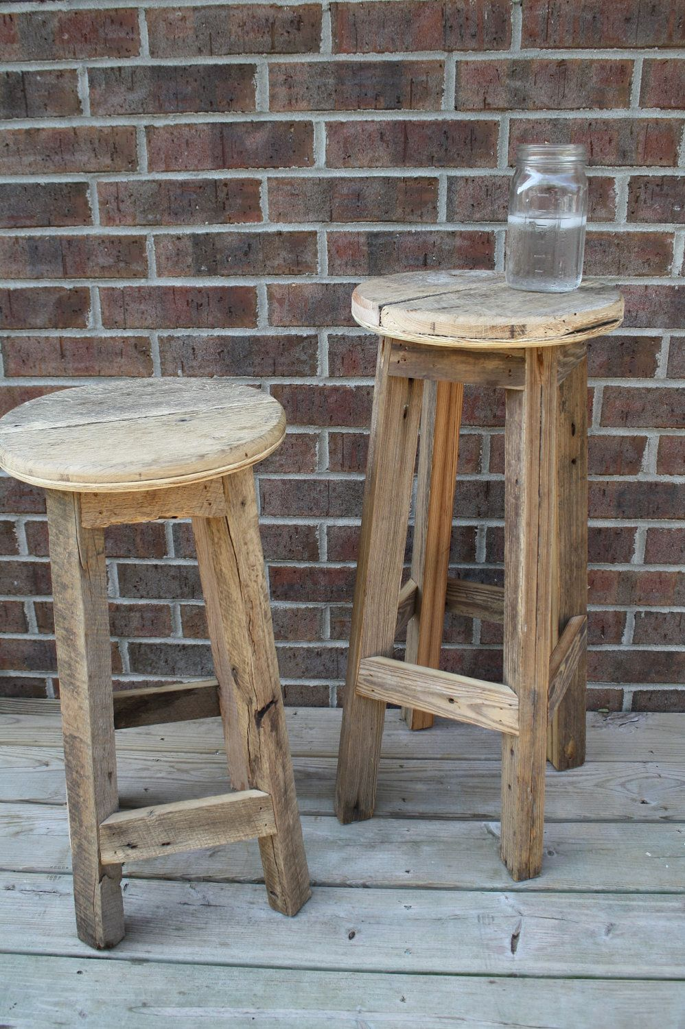 Collections Of Small Rustic Bar Stools Onthecornerstone