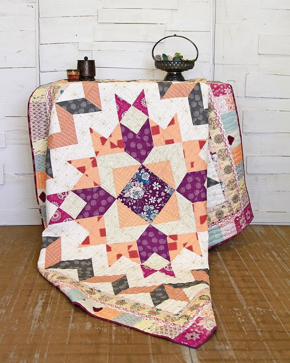 """758 Likes, 7 Comments - We Are Fabrics (@artgalleryfabrics) on Instagram: """"This dreamy quilt is waiting for you to sew it! Find the free pattern on page 46 of the lookbook…"""""""