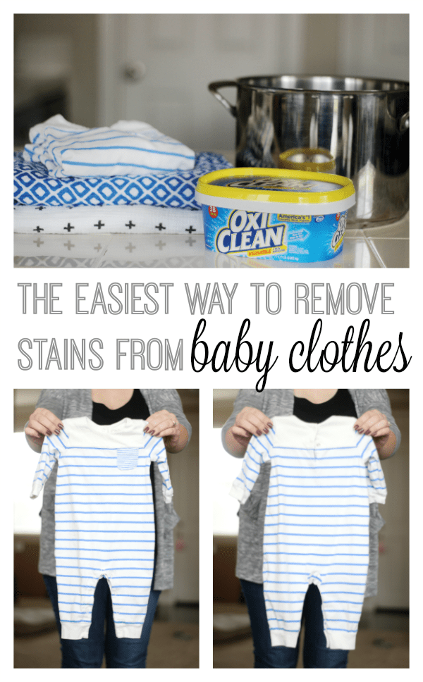 How to Remove Old Stains From Baby Clothing: Spit Up, Blow Outs... #setinstains