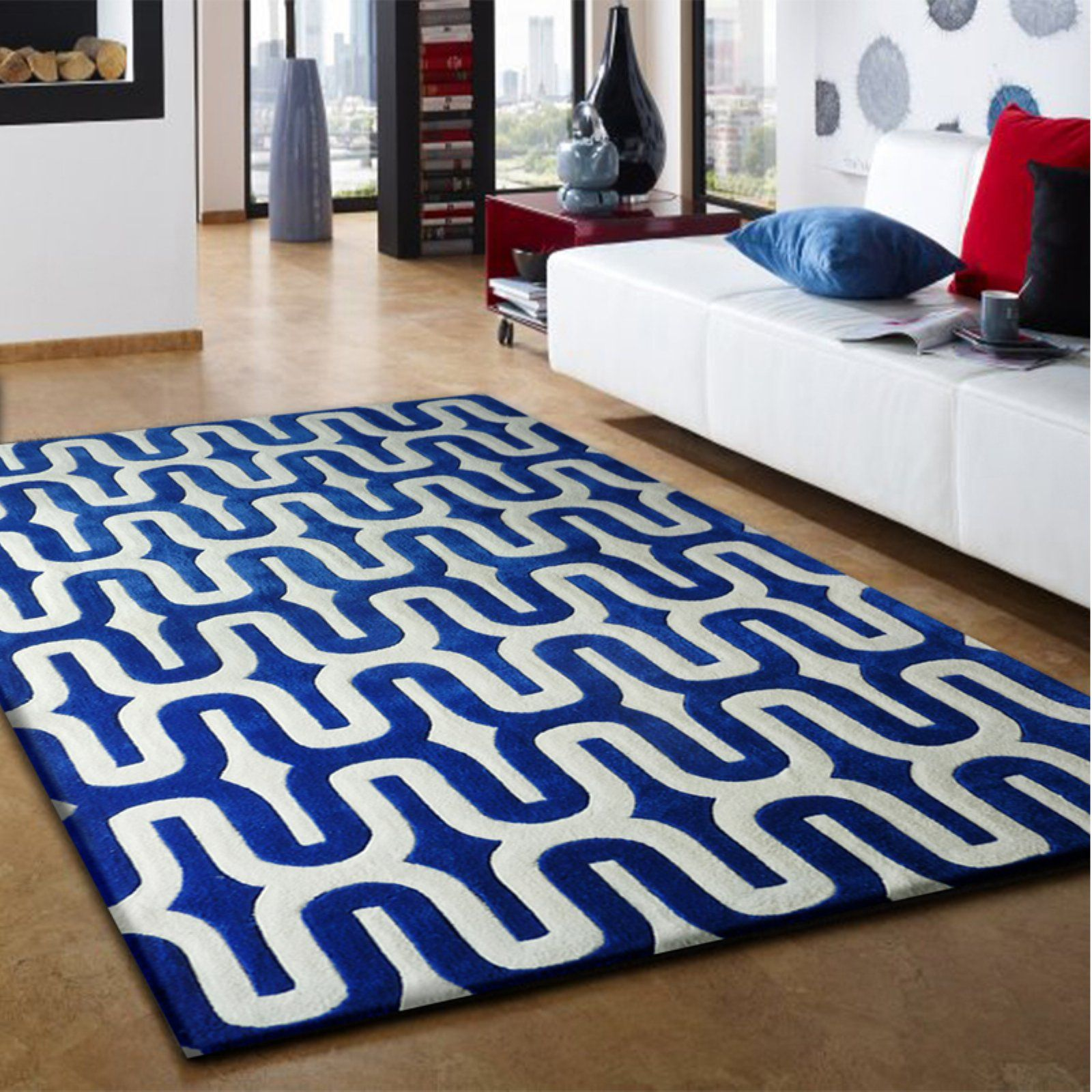 Rug Factory Transition Tf36 Indoor Area Blue Products
